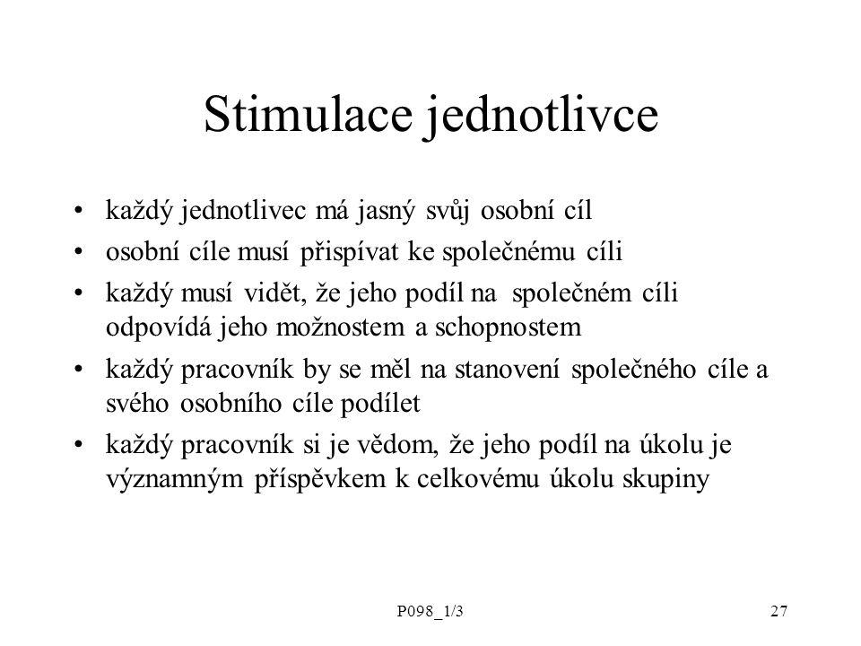 Stimulace jednotlivce