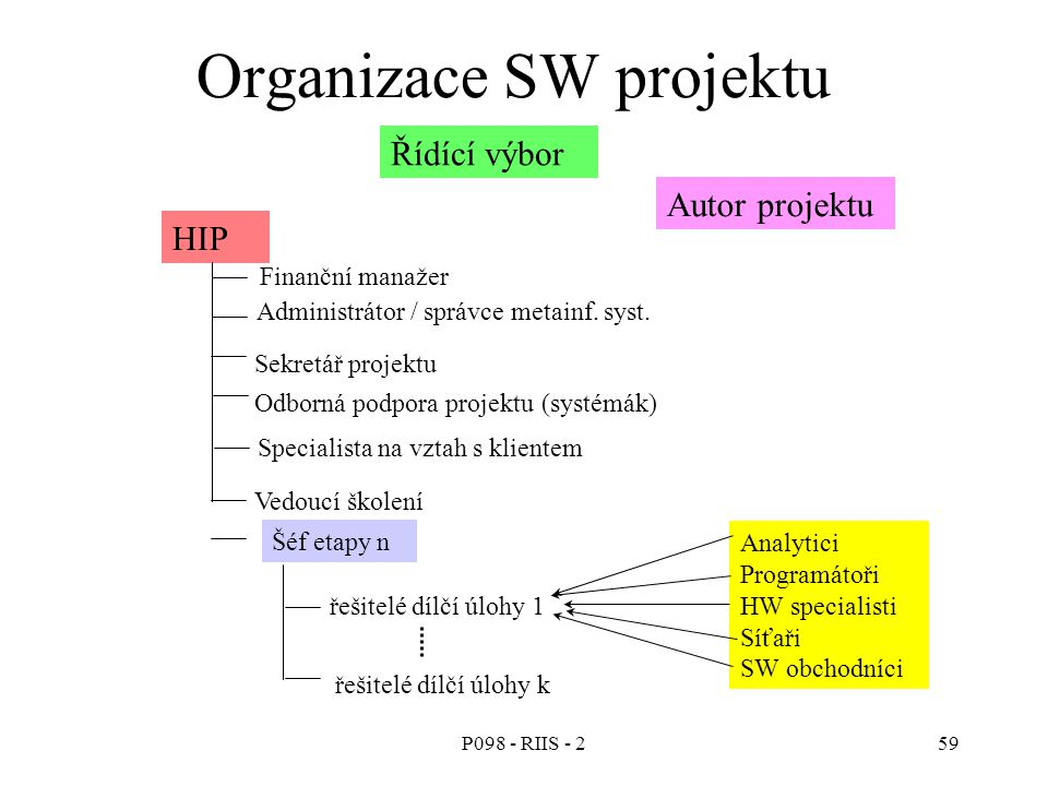 Organizace SW projektu