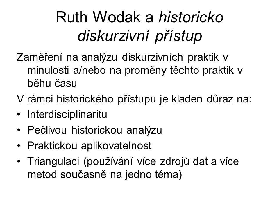 Ruth Wodak a historicko diskurzivní přístup