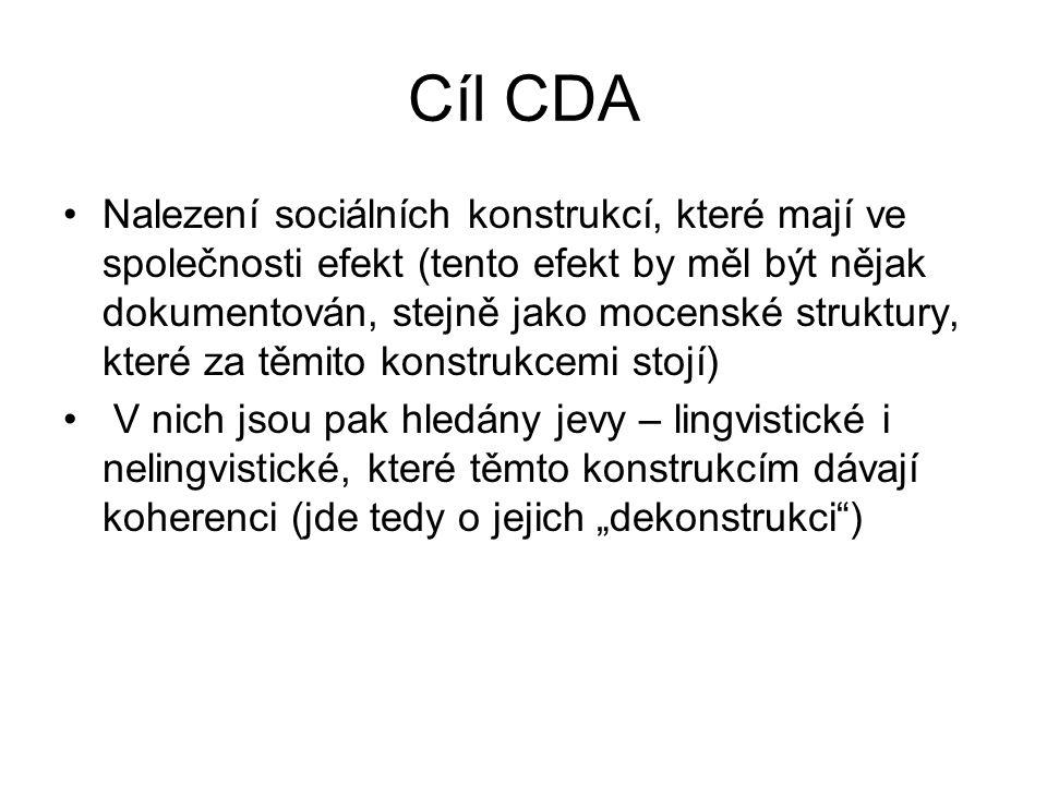 Cíl CDA
