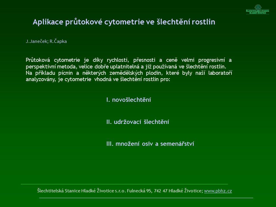 Aplikace průtokové cytometrie ve šlechtění rostlin