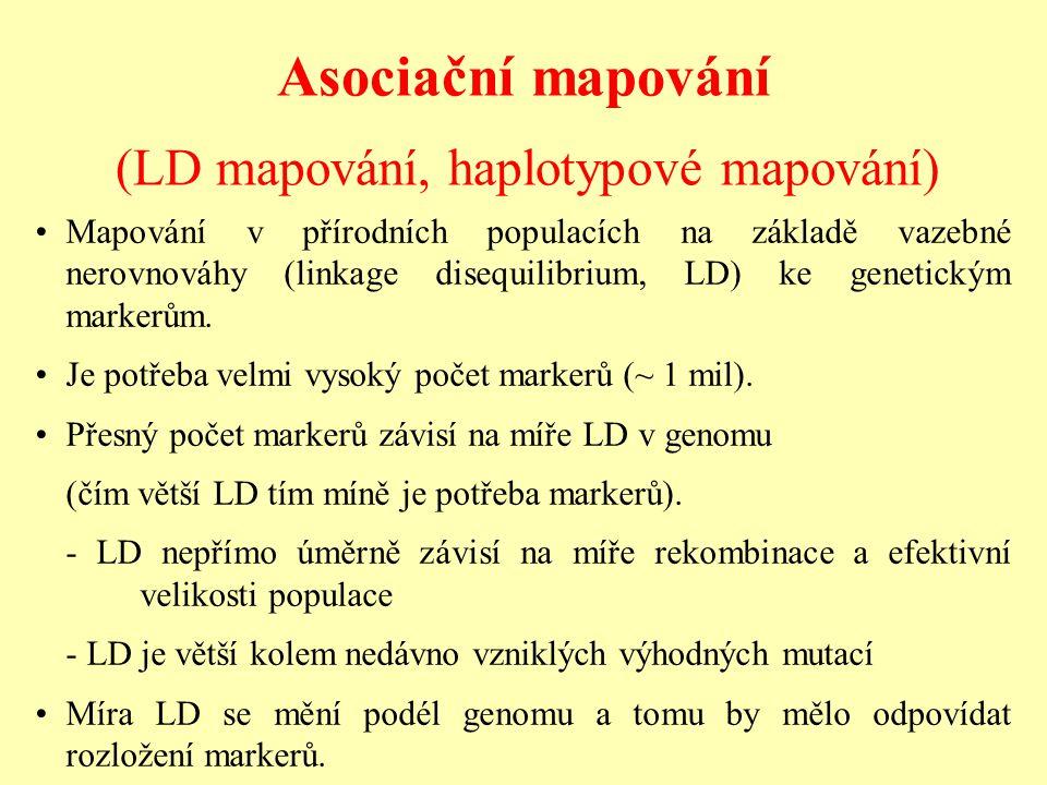 (LD mapování, haplotypové mapování)