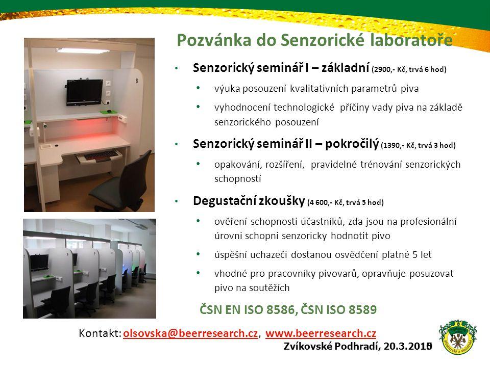 Pozvánka do Senzorické laboratoře