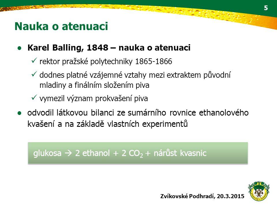 Nauka o atenuaci Karel Balling, 1848 – nauka o atenuaci