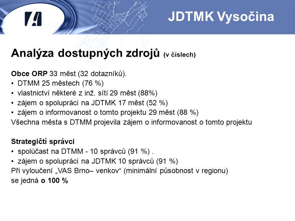 JDTMK Vysočina Analýza dostupných zdrojů (v číslech)