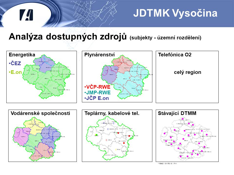 JDTMK Vysočina Analýza dostupných zdrojů (subjekty - územní rozdělení)
