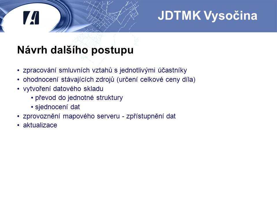 JDTMK Vysočina Návrh dalšího postupu