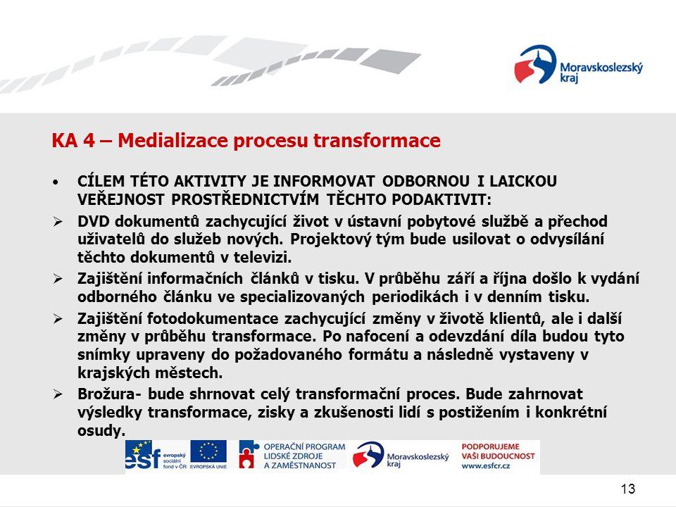 KA 4 – Medializace procesu transformace