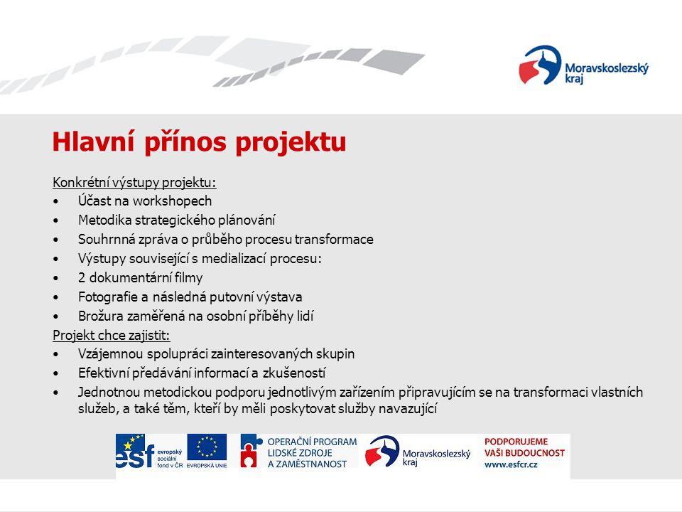 Hlavní přínos projektu