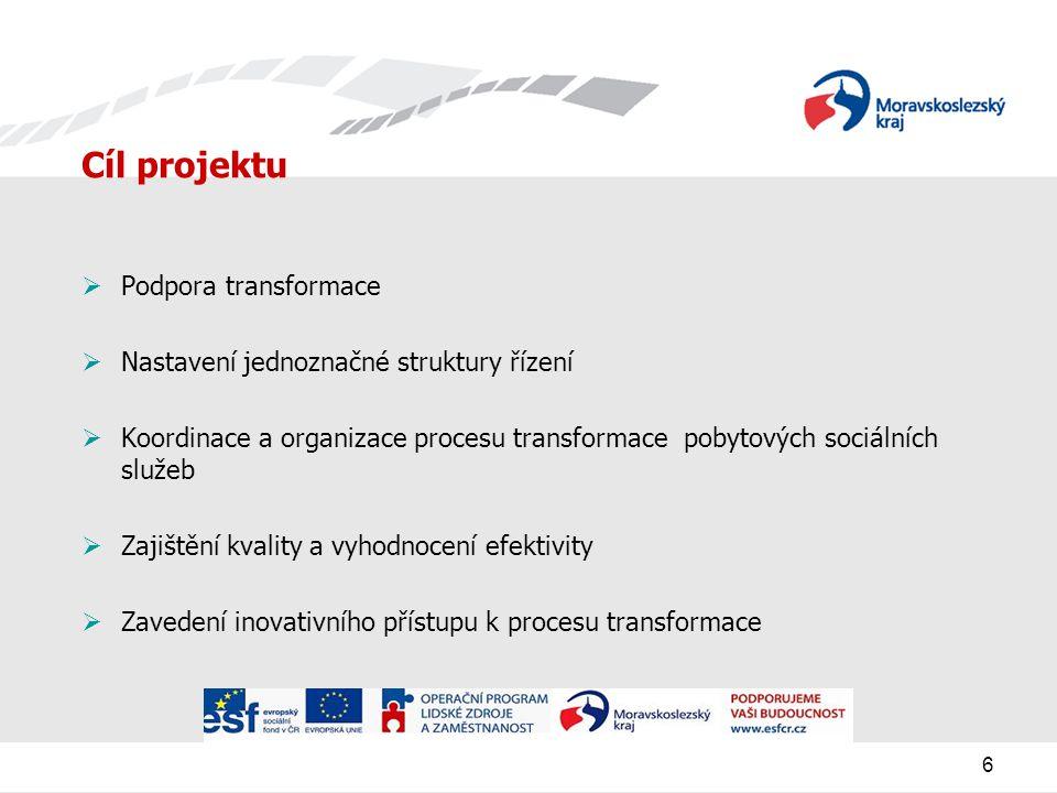 Cíl projektu Podpora transformace
