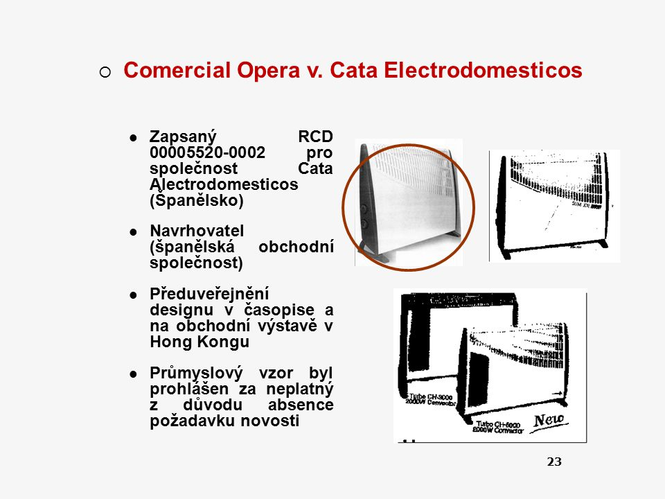 Comercial Opera v. Cata Electrodomesticos