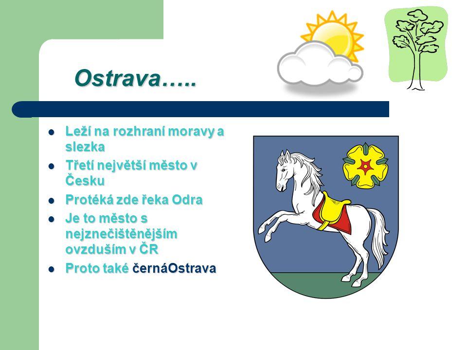 Ostrava….. Leží na rozhraní moravy a slezka
