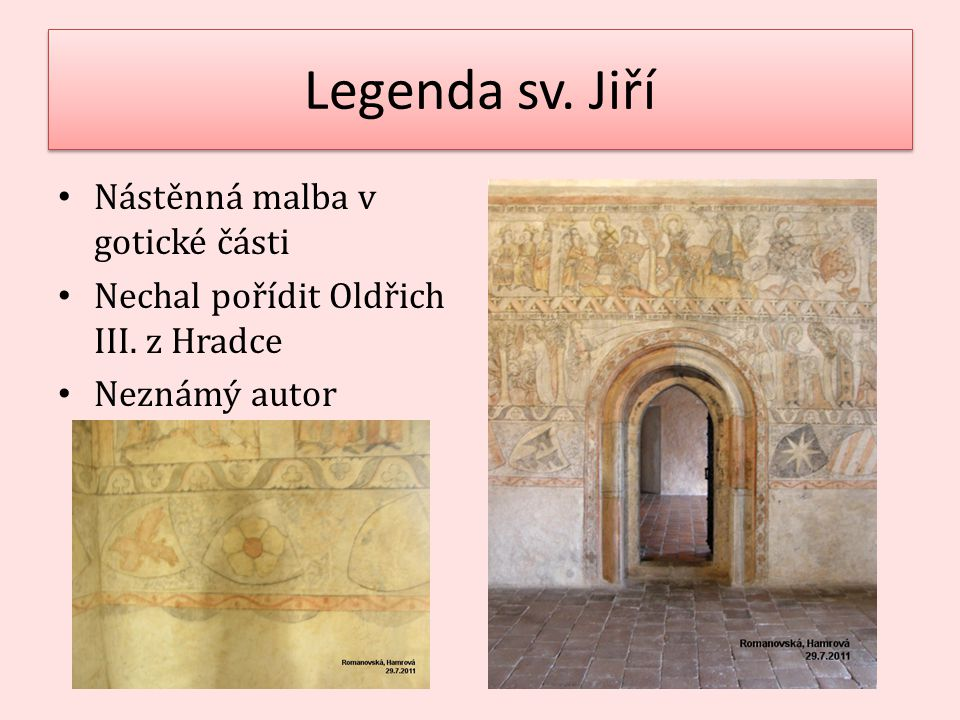 Legenda sv. Jiří Nástěnná malba v gotické části