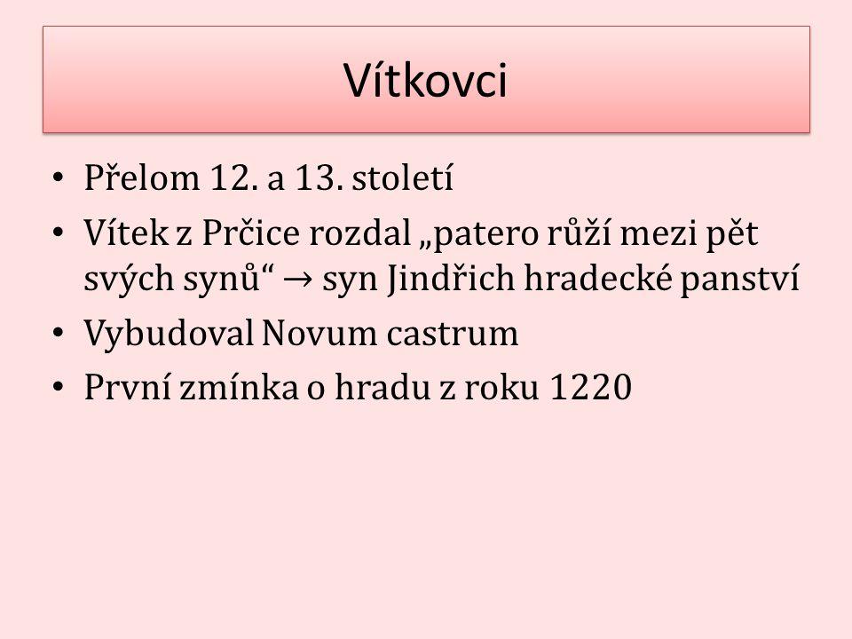Vítkovci Přelom 12. a 13. století