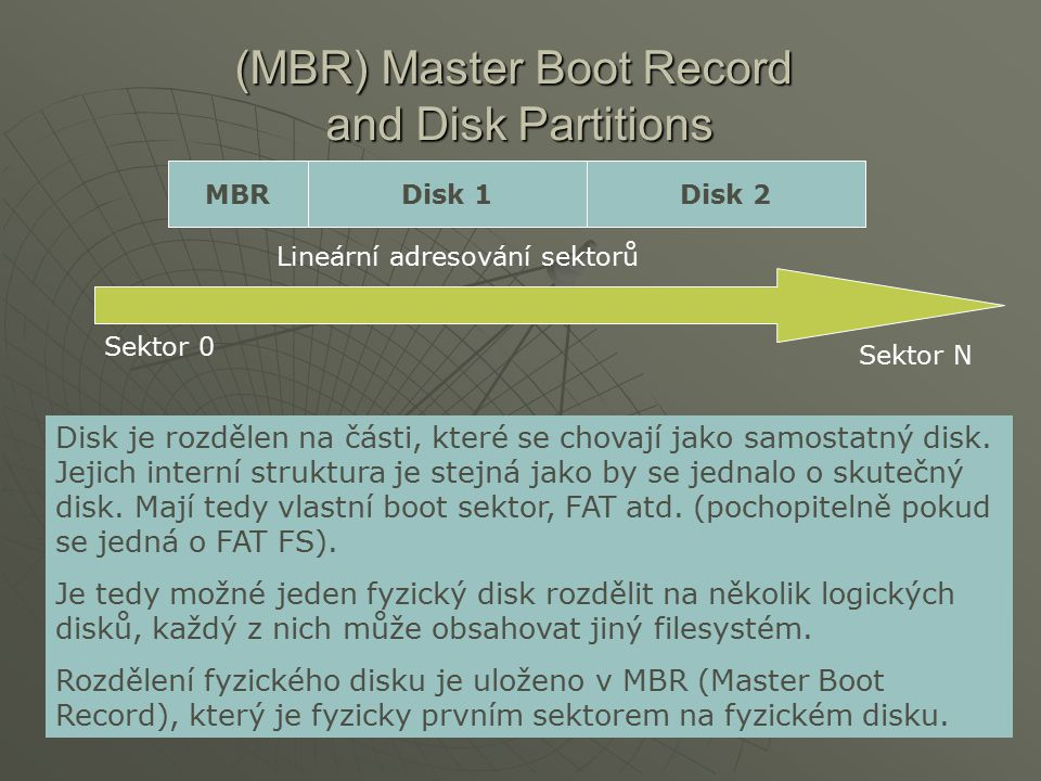 (MBR) Master Boot Record and Disk Partitions