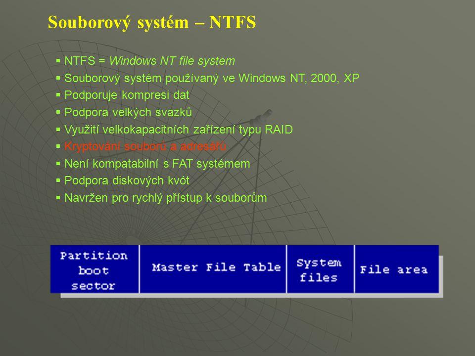 Souborový systém – NTFS