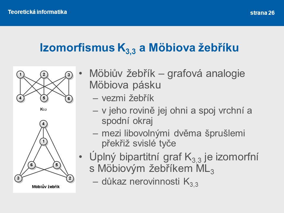Izomorfismus K3,3 a Möbiova žebříku