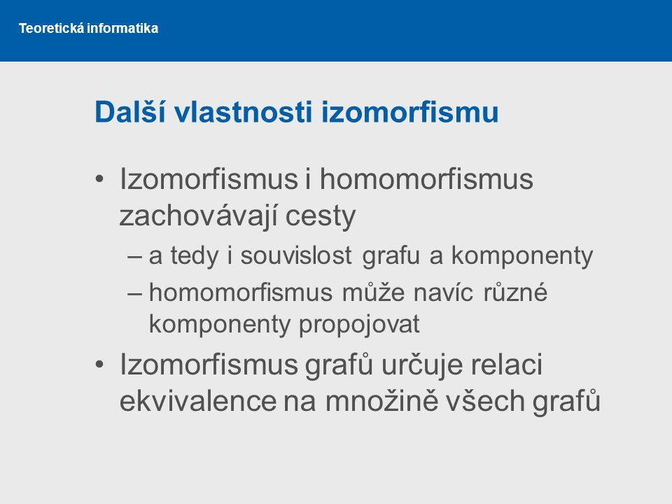 Další vlastnosti izomorfismu