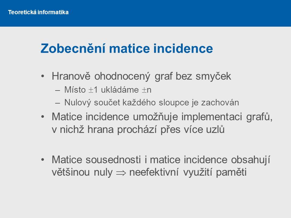 Zobecnění matice incidence