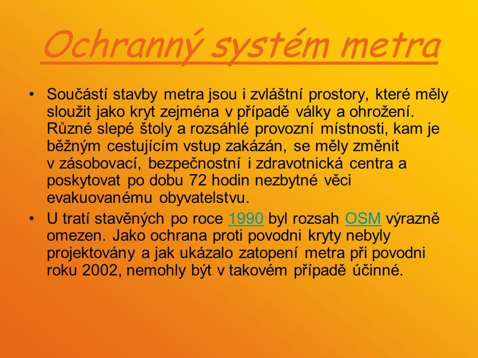 Ochranný systém metra