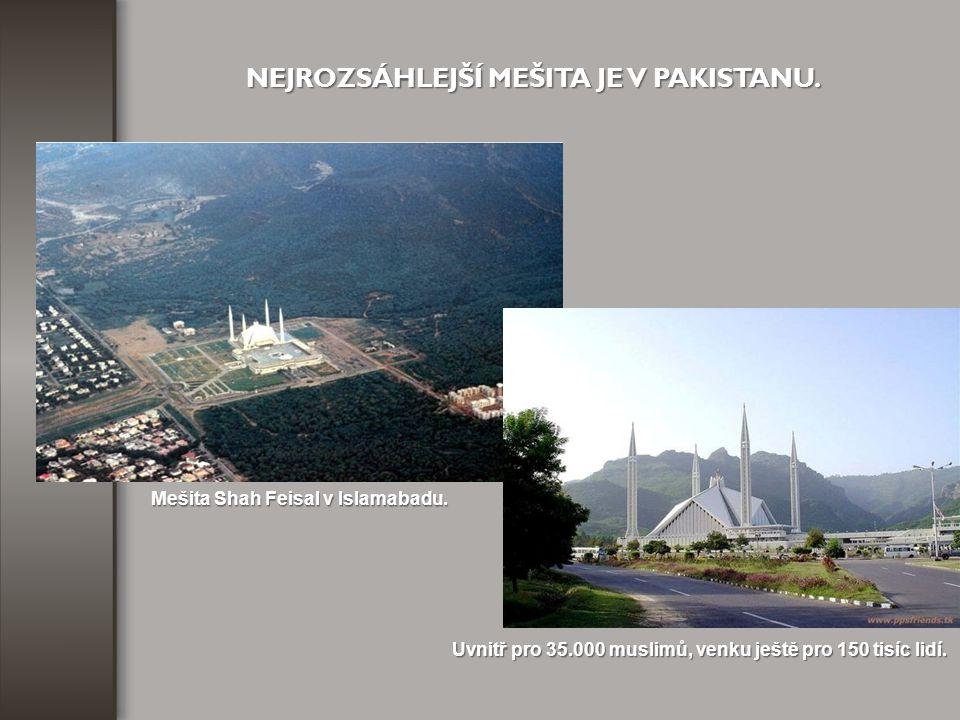 Mešita Shah Feisal v Islamabadu.