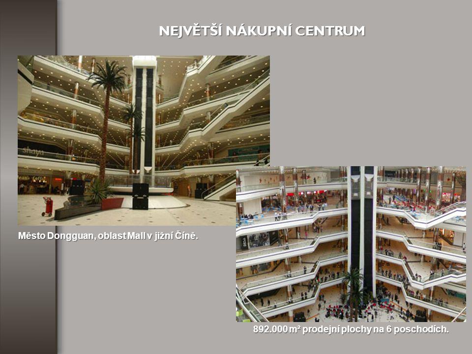 892.000 m² prodejní plochy na 6 poschodích.