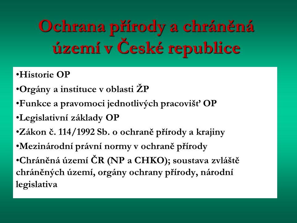 Ochrana přírody a chráněná území v České republice