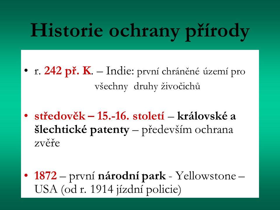 Historie ochrany přírody