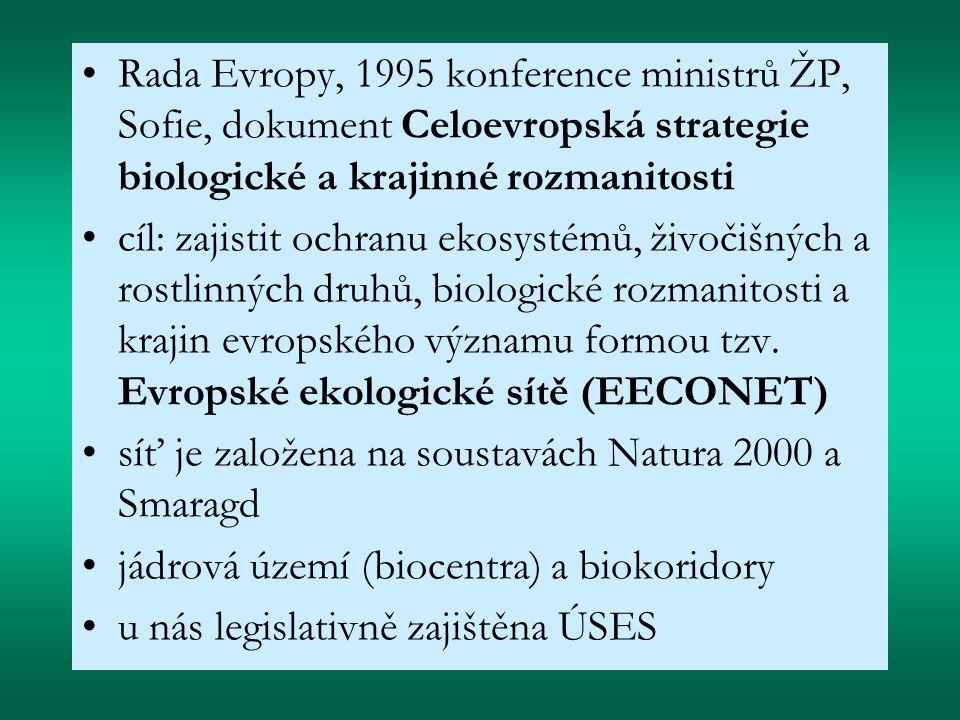 Rada Evropy, 1995 konference ministrů ŽP, Sofie, dokument Celoevropská strategie biologické a krajinné rozmanitosti