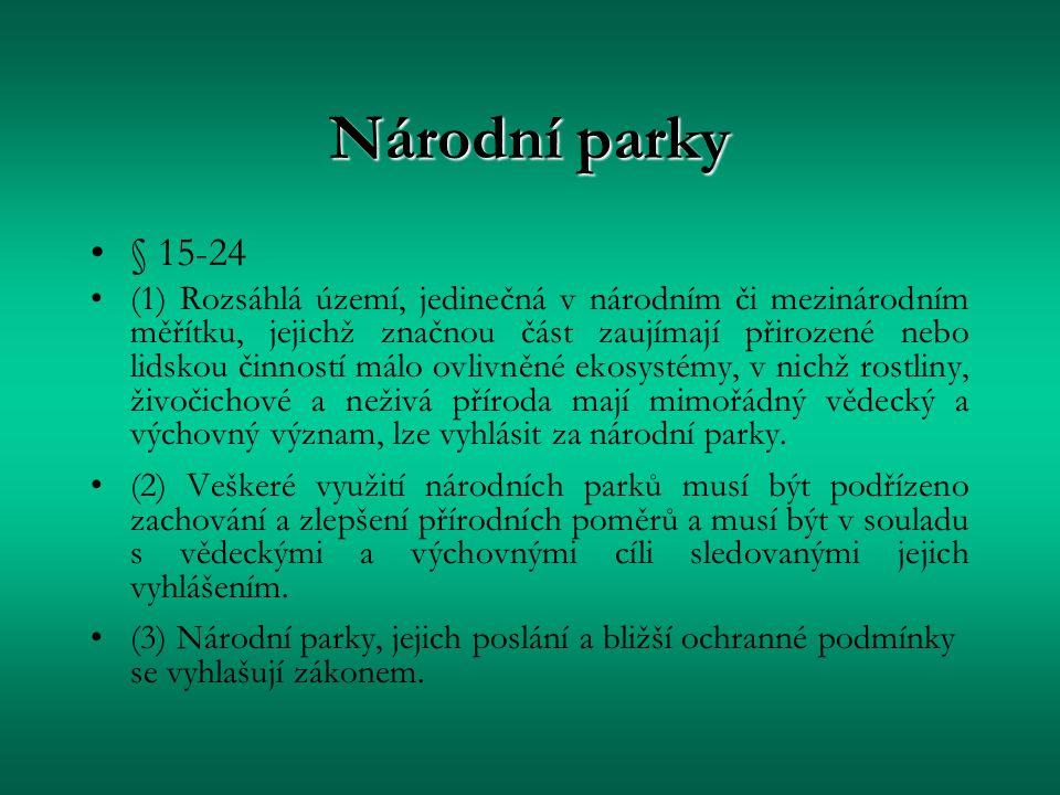 Národní parky § 15-24.