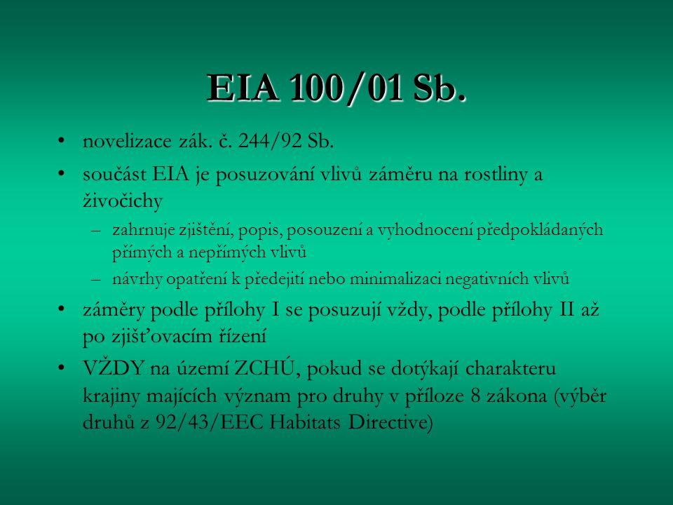 EIA 100/01 Sb. novelizace zák. č. 244/92 Sb.