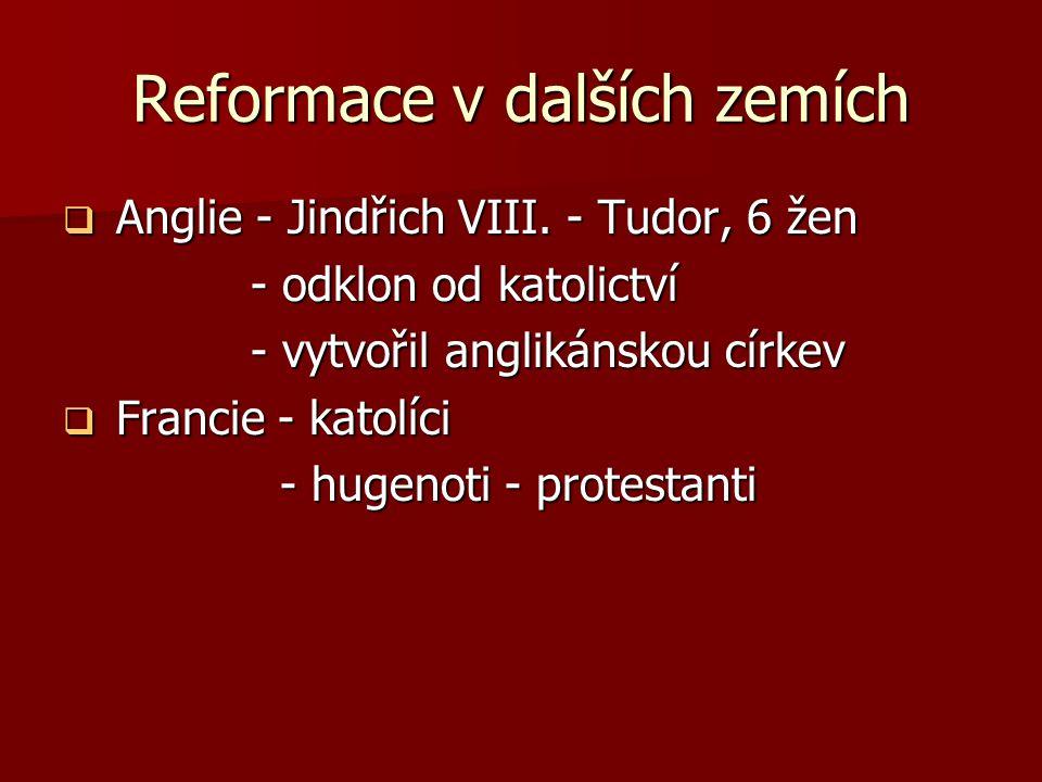 Reformace v dalších zemích