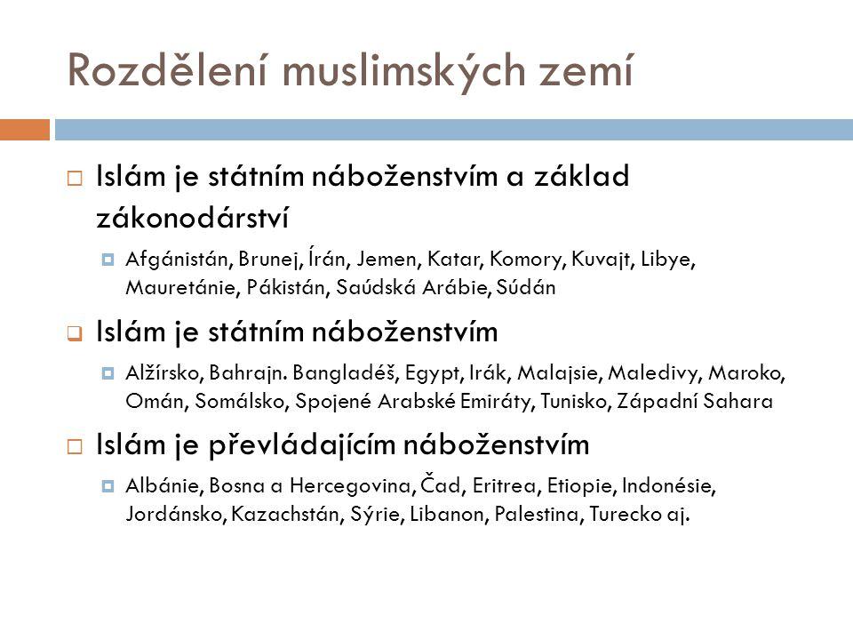Rozdělení muslimských zemí