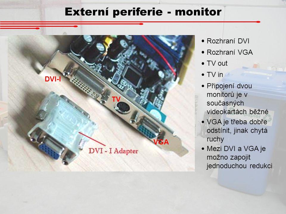Externí periferie - monitor