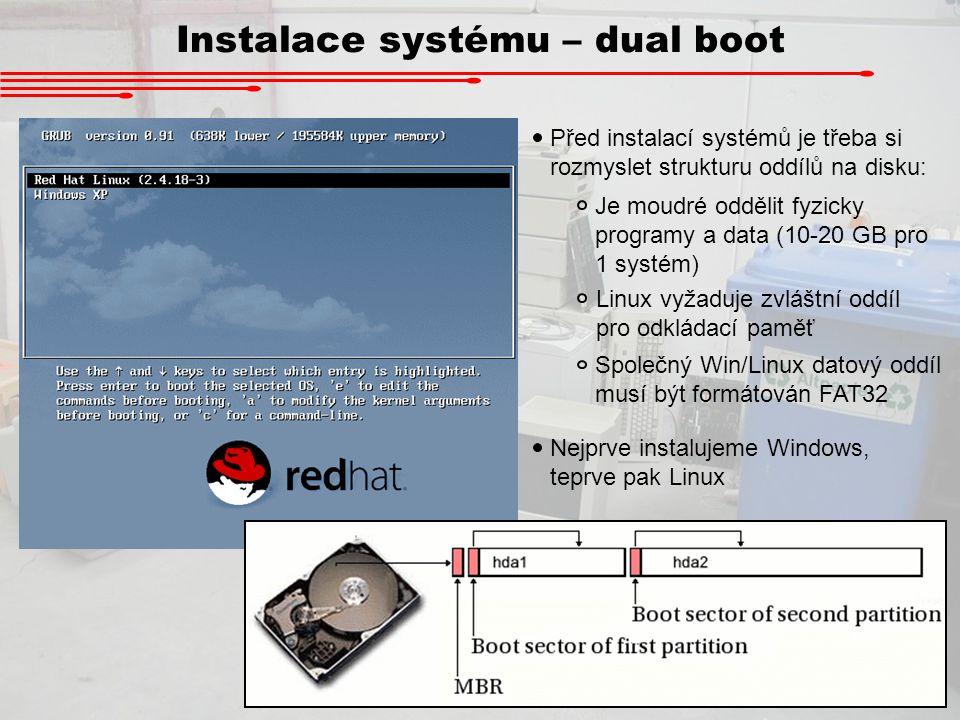 Instalace systému – dual boot