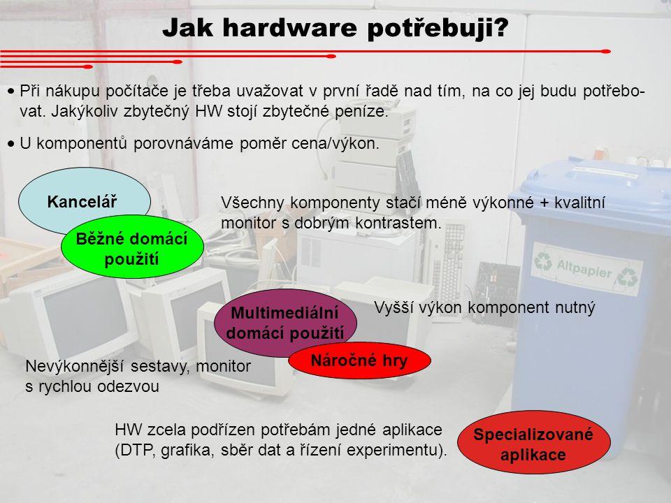 Multimediální domácí použití Specializované aplikace