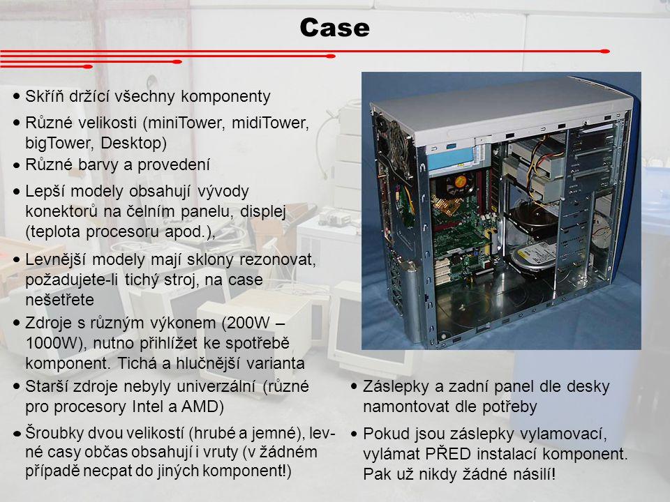 Case Skříň držící všechny komponenty