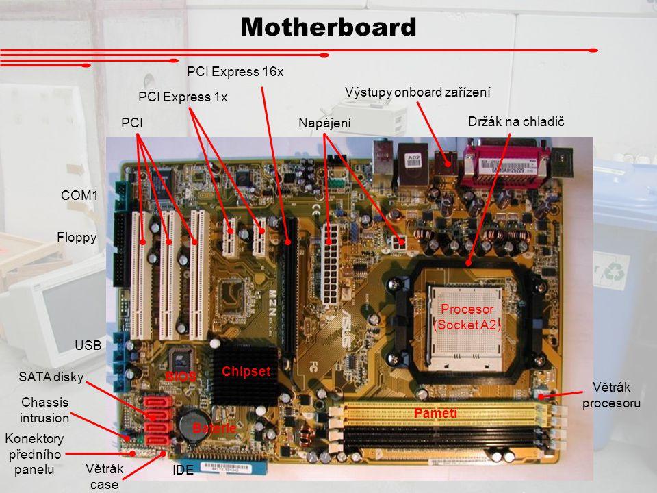Motherboard PCI Express 16x Výstupy onboard zařízení PCI Express 1x