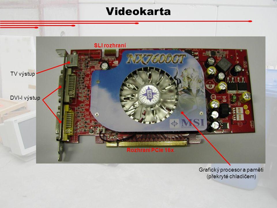 Grafický procesor a paměti (překryté chladičem)