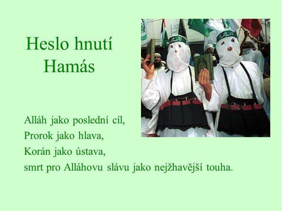 Heslo hnutí Hamás Alláh jako poslední cíl, Prorok jako hlava,