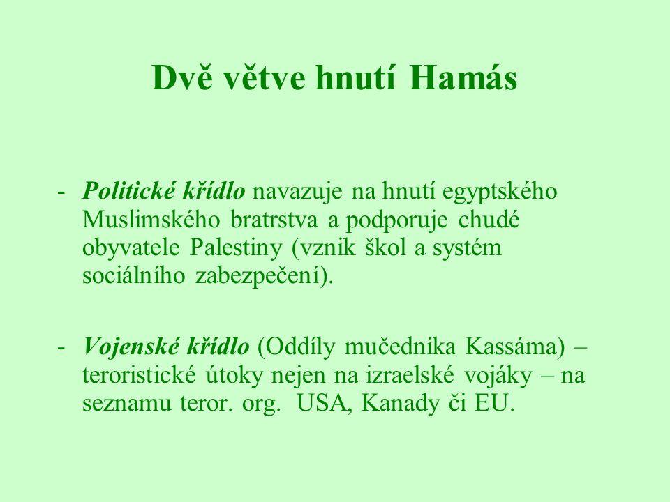 Dvě větve hnutí Hamás