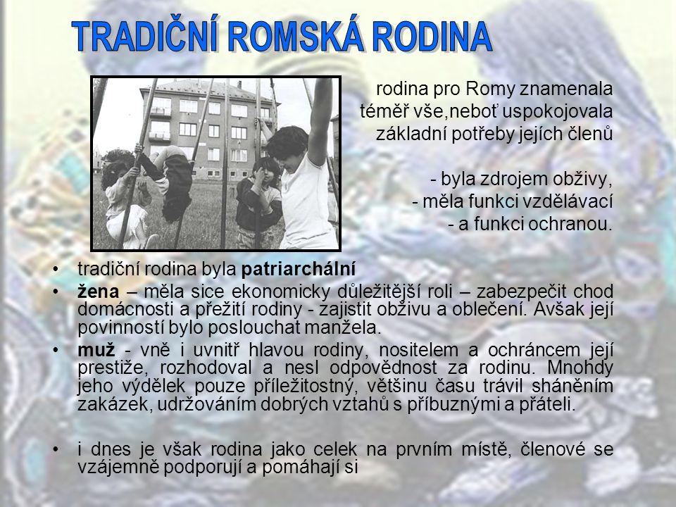 TRADIČNÍ ROMSKÁ RODINA