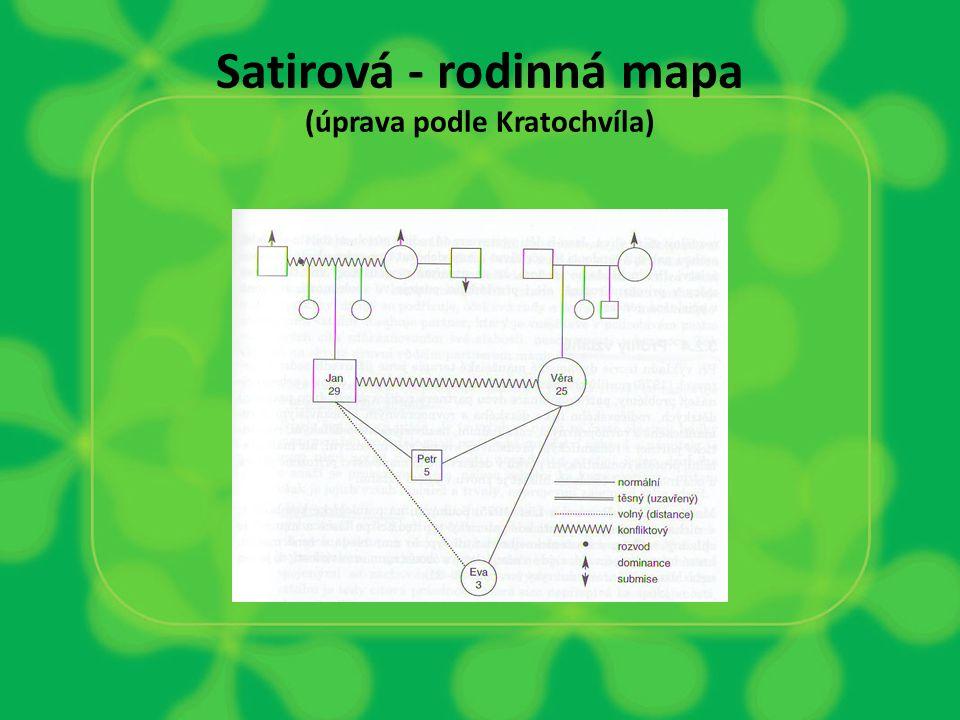 Satirová - rodinná mapa (úprava podle Kratochvíla)