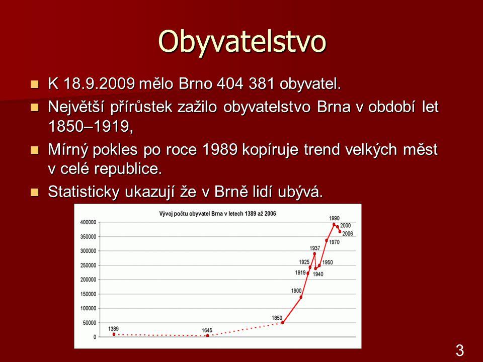 Obyvatelstvo K 18.9.2009 mělo Brno 404 381 obyvatel.