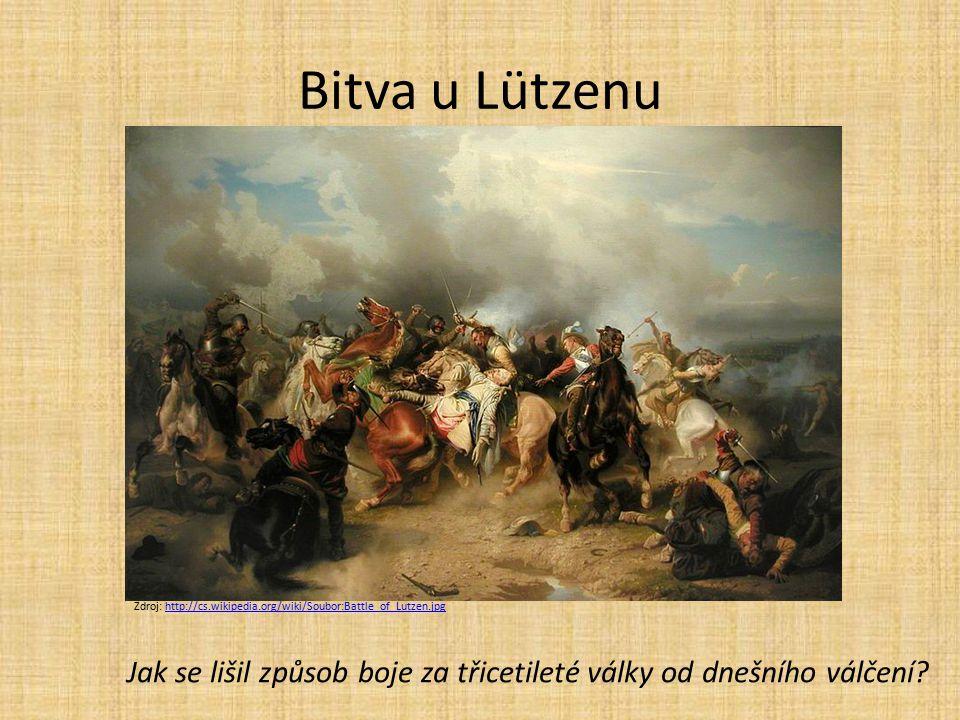 Bitva u Lützenu Zdroj: http://cs.wikipedia.org/wiki/Soubor:Battle_of_Lutzen.jpg.