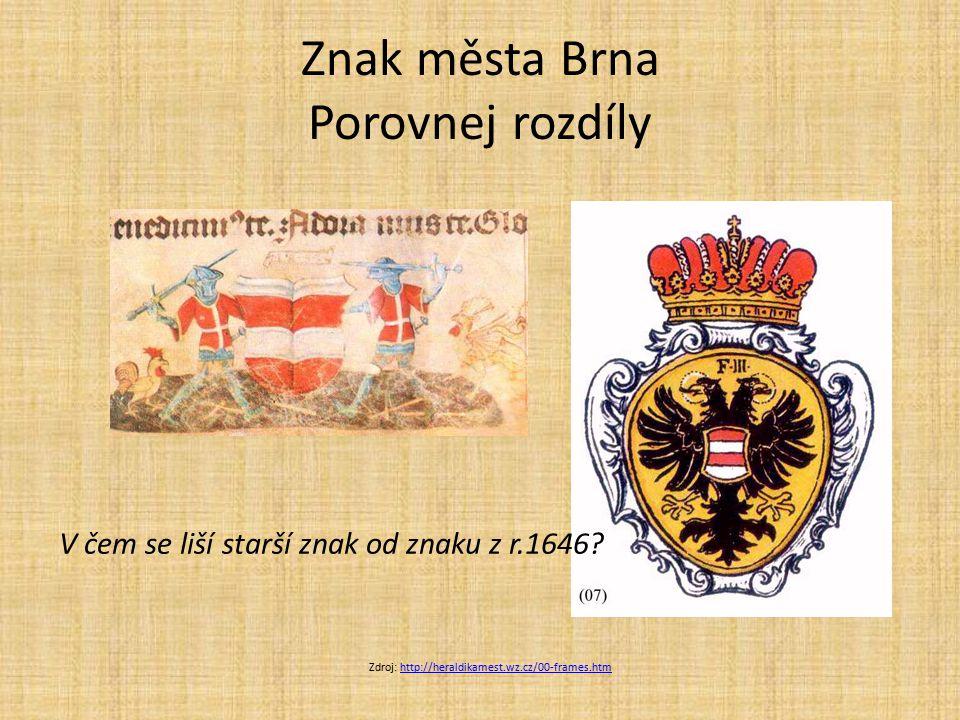 Znak města Brna Porovnej rozdíly