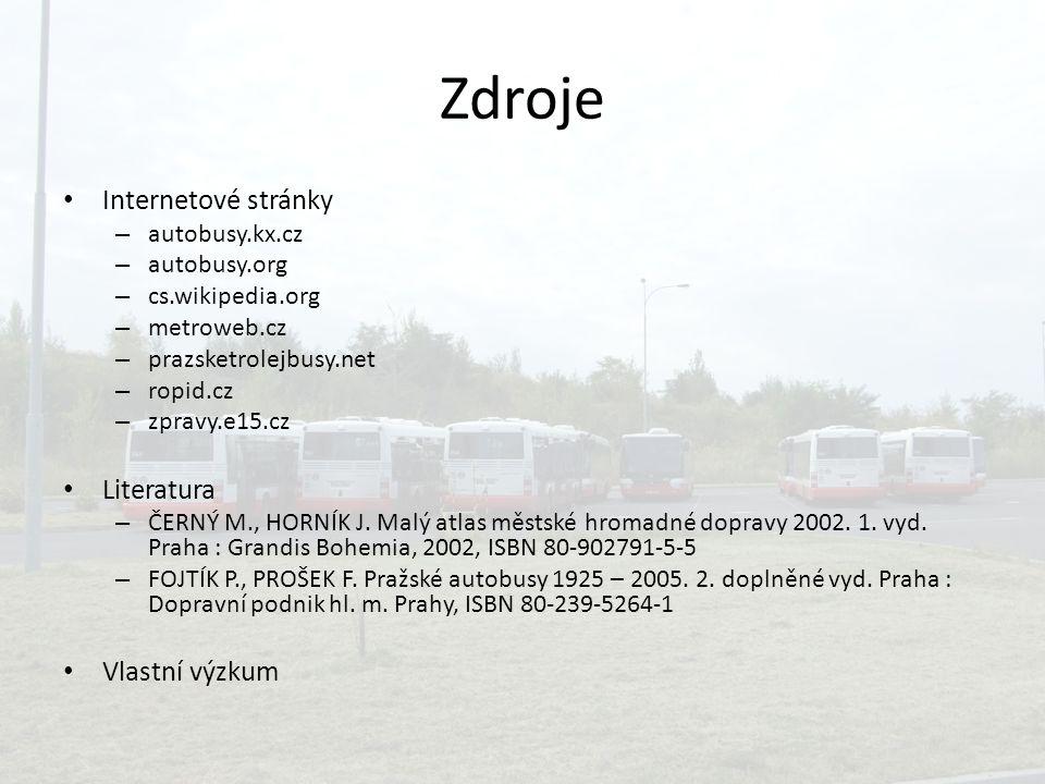 Zdroje Internetové stránky Literatura Vlastní výzkum autobusy.kx.cz