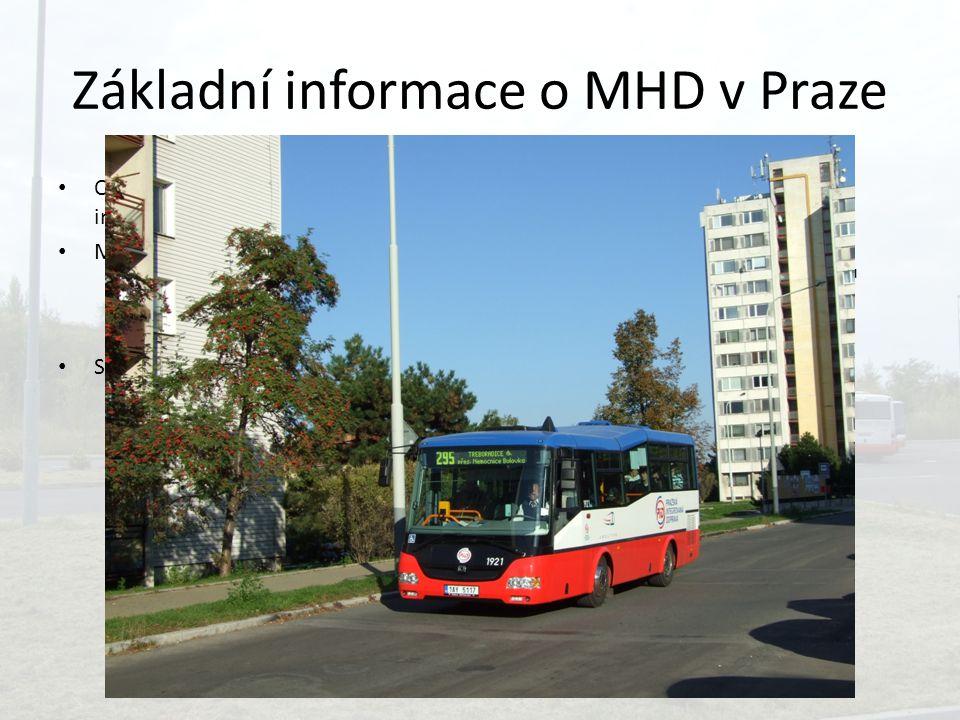 Základní informace o MHD v Praze