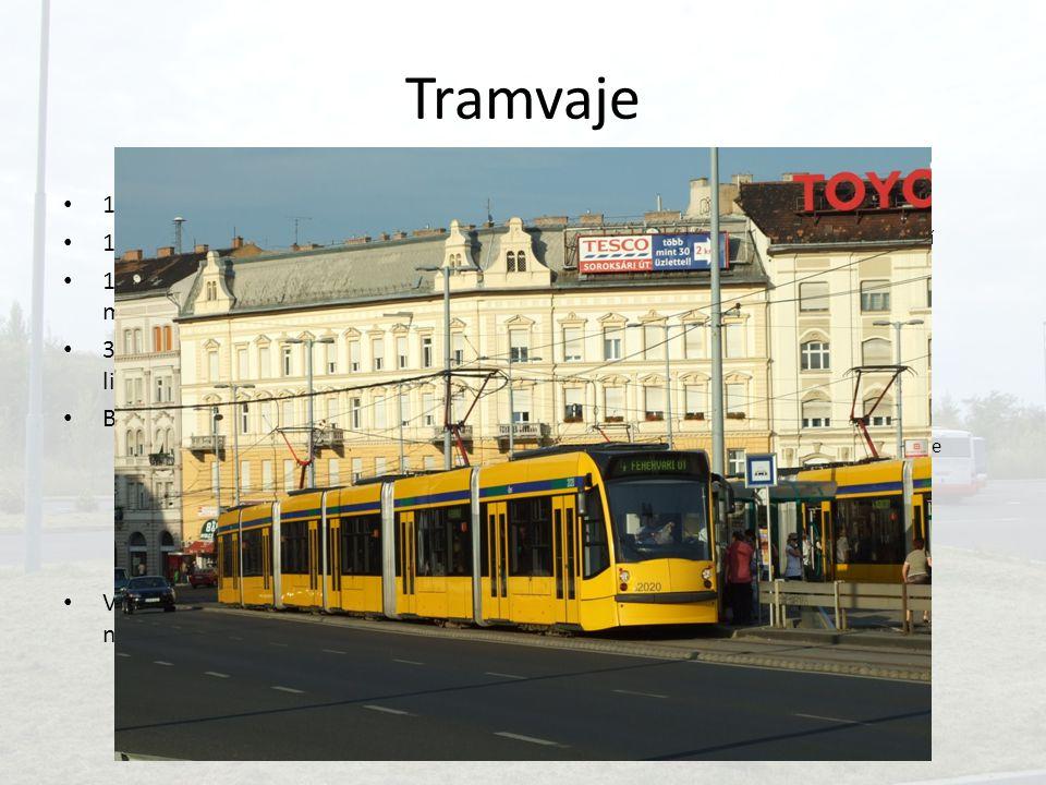 Tramvaje 1875 – koněspřežná tramvaj 1891 – elektrická tramvaj
