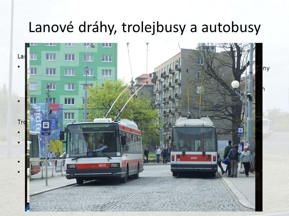 Lanové dráhy, trolejbusy a autobusy